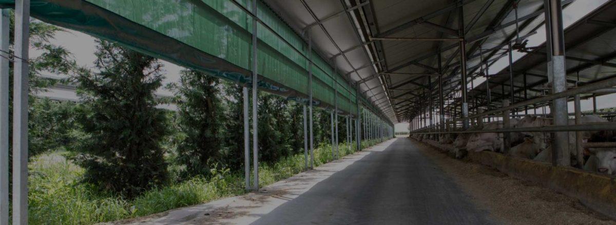 Windbreak shade mesh panels