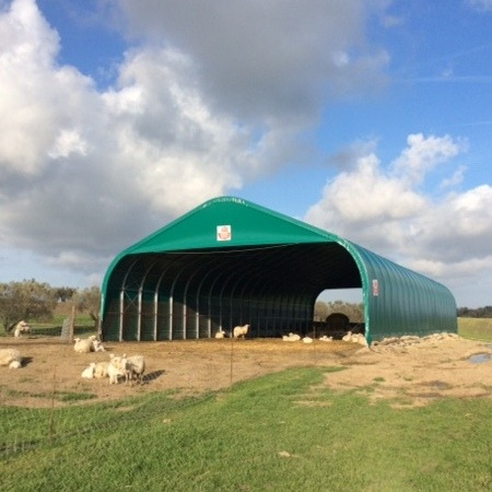 Sheep and goat fabric farm shelter
